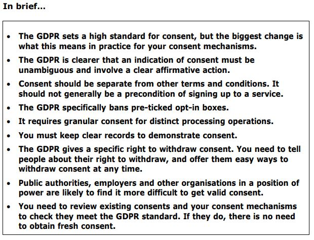 a GDPR list
